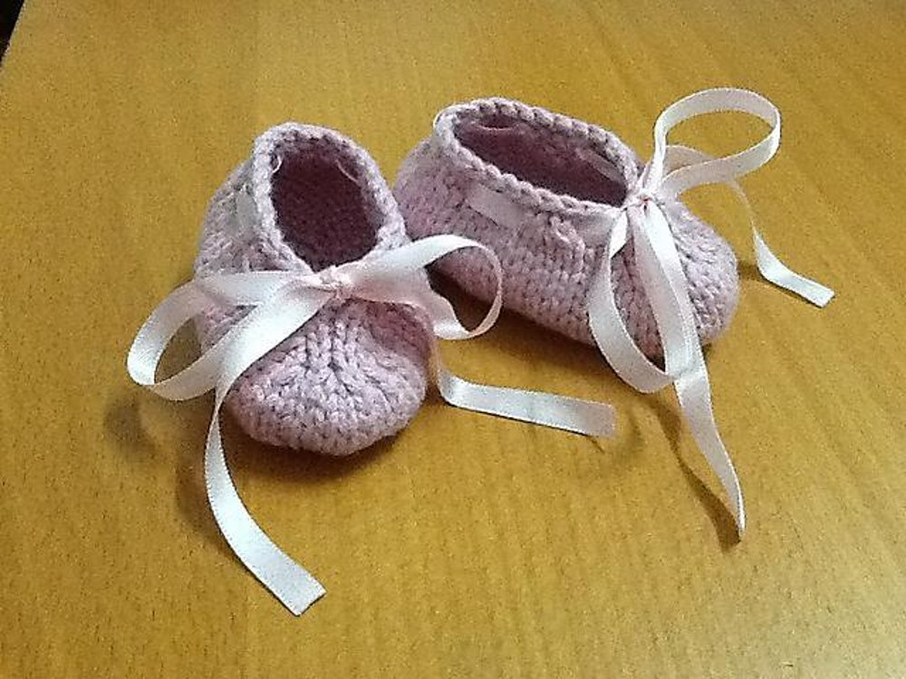Baby Ballerina Booties Knitting Pattern By Adeline Too Knitting Patterns