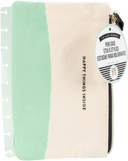 """Me & My Big Ideas Happy Planner Snap-In Pouch 6.25""""x8.75"""" - Happy Things Inside Mint & White"""