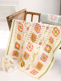 Posy Granny Baby Blanket in Caron Simply Soft and Simply Soft Collection - Downloadable PDF