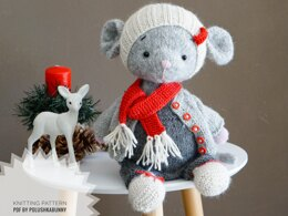 Doll Toy Clothes - Outfit Xmas mouse Boy