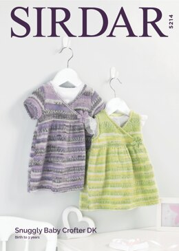 Dresses in Sirdar Snuggly Baby Crofter DK - 5214 - Downloadable PDF