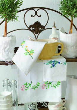 Anchor Aromatic Plants - Hand Towel Borders - Thyme, Juniper and Wormwood - 0060044-00901_07 -  Downloadable PDF