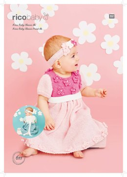 Dresses and Headbands in Rico Baby Classic Glitz DK - 611 - Downloadable PDF