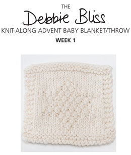 Knit-Along Advent Baby Blanket Week 1 in Debbie Bliss Mia
