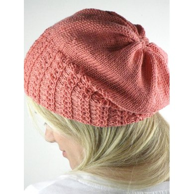 Faux Cable Slouchy Hat