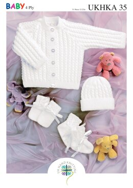 Jacket, Hat, Mittens and Bootes in King Cole Baby 4 ply - UKHKA35pdf - Downloadable PDF