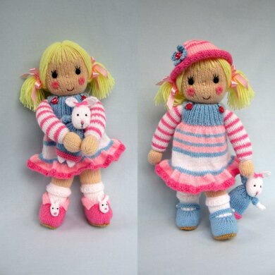 a5e634f3e9cce3 Betsy and her Bunny - Doll knitting pattern Knitting pattern by ...