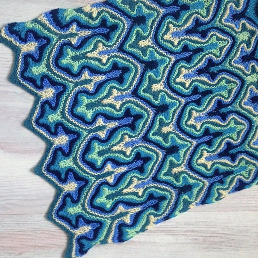 Koch Fractal Knitting pattern by Kulabra Designs