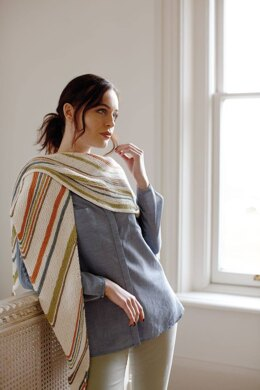 Henny Shawl in Rowan Cotton Cashmere - Downloadable PDF