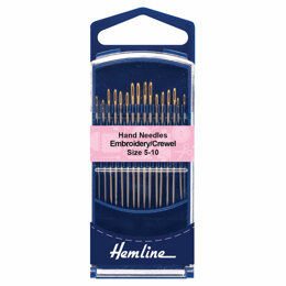 Hemline Premium Embroidery/Crewel Needles Size 5-10
