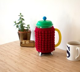 Red-Hot coffee cozy