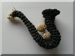 Unusual Crochet Saxophone Pattern A Unique Musical Amigurumi