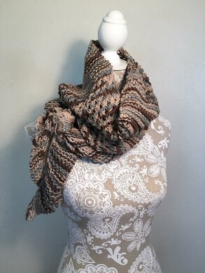 Diagonal Knot Stitch Scarf Loom Knitting pattern by Dayna Scoles