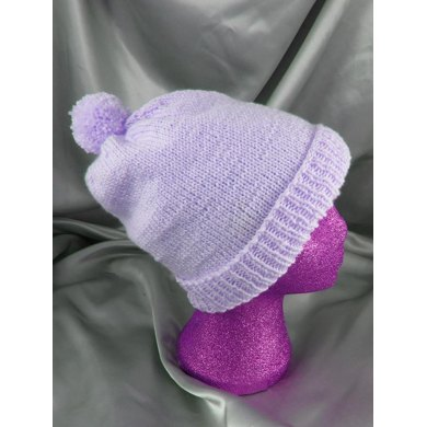 Simple Bobble Slouch Hat Circular