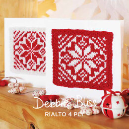Christmas Cards - Free Knitting Pattern For Christmas in Debbie Bliss Rialto 4ply by Debbie Bliss