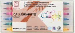 ZIG Memory System Calligraphy Dual-Tip Markers 6/Pkg - 563899