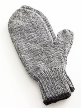 Toasty Knitted Mittens in Lion Brand Wool-Ease - 80677AD