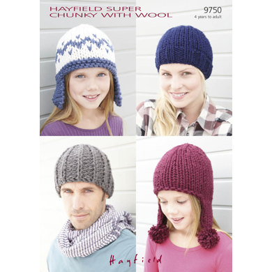 Hats in Hayfield Super Chunky with Wool - 9750