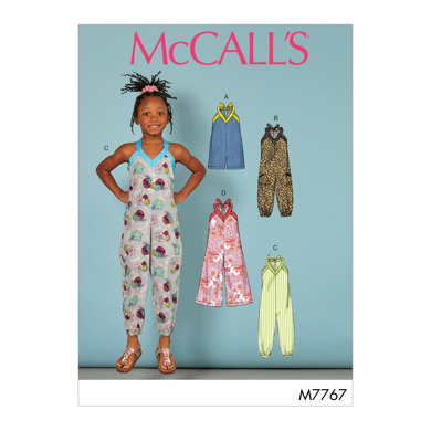 McCall's Toddler's/Childrens' Romper and Jumpsuits M7767 - Sewing Pattern