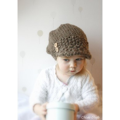 Newsboy Cap Hat Morgan Knitting Pattern By Muki Crafts