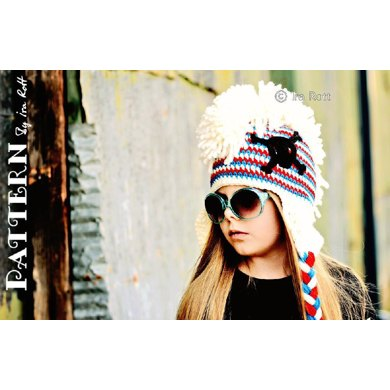Skull And Crossbones Punk Hat With Mohawk Crochet Pattern In Pdf