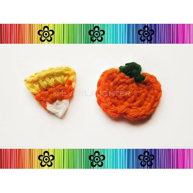 Pumpkin and Candy Corn Applique