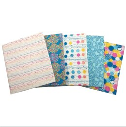Visage Textiles Pom Pom Fat Quarter Bundle - Blue