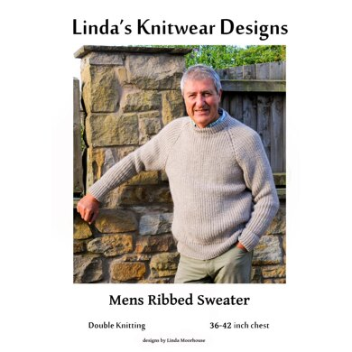 Men's Ribbed Sweater with Raglan sleeves