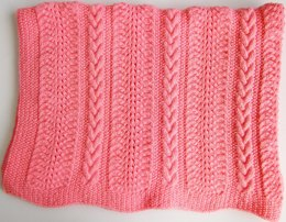 Sandi Cable & Lace Baby Blanket
