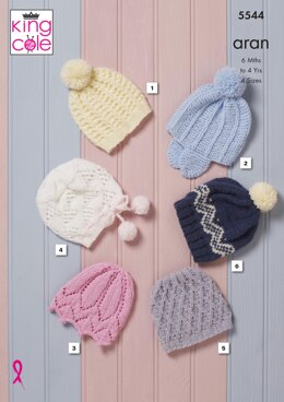 Hats in King Cole Comfort Aran - 5544 - Downloadable PDF