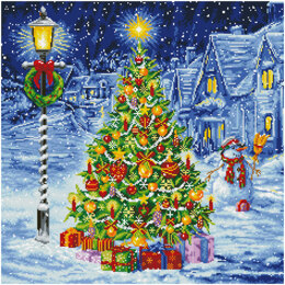 Diamond Dotz Oh Christmas Tree - 67 x 67cm (26.4 x 26.4in)