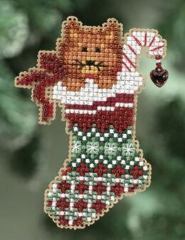 Mill Hill Kitty's Stocking Fridge Magnet Cross Stitch Kit