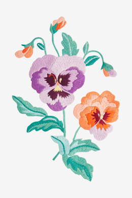 Spring Pansies in DMC - PAT0600 - Downloadable PDF