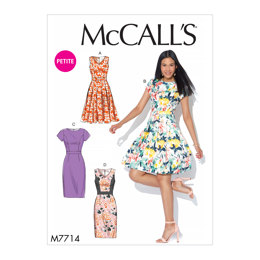 McCall's Misses'/Miss Petite Dresses M7714 - Sewing Pattern