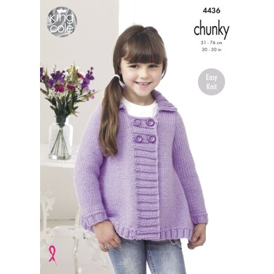 Jackets in King Cole Comfort Chunky - 4436 - Downloadable PDF