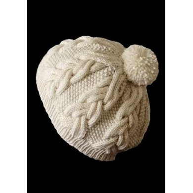 Milky White Cables Hat