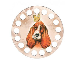 RTO Yarn Holder - Round Printed Dog