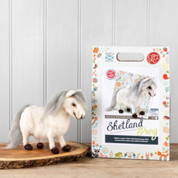 The Crafty Kit Company Shetland Pony Needle Felting Kit - 190 x 290 x 94mm