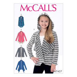 McCall's Girls' Shawl Collar Vest and Cardigans M7427 - Sewing Pattern
