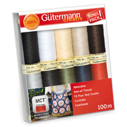 Gutermann Thread Set: Sew-All: 100m: Pack of 10 Assorted #1