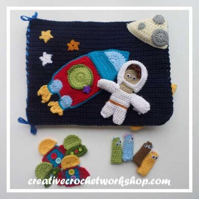 My Interactive Out In Space Playbook Crochet Quiet Book