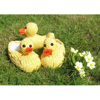 Children's Rubber Duck (Ducky) Slippers and Toy