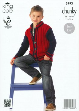 Boys' Jackets in King Cole Comfort Chunky - 3993