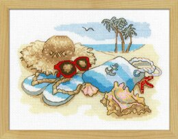 Riolis Seaside Holiday Cross Stitch Kit - 24cm x 18cm