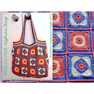 TRICOLOUR Afghan Bag USA