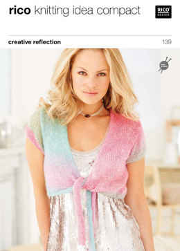 Tie Front Cardigans in Rico Creative Reflection Print - 139