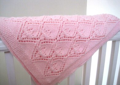 The Pretty Petal Baby Blanket
