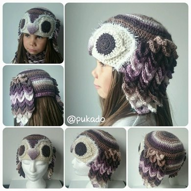 Woodland Animals Hat Series - Owl - 5 sizes included