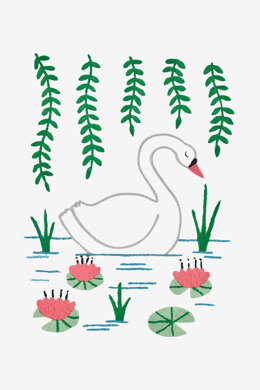 Swan in DMC - PAT0318 - Downloadable PDF