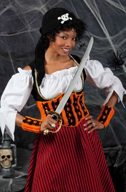 Halloween Wench in Red Heart Super Saver Economy Solids - LW3271